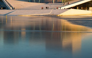 Winter at Oslo Opera House