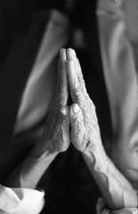 Evaporar. (foureyede) Tags: life old blackandwhite film beauty 35mm hands praying grandpa age veins delta3200 ilford ilforddelta3200 ilfordfilm nikonfm2n foureyede
