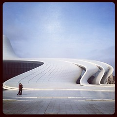 Heydar Aliyev Center (Lil [Kristen Elsby]) Tags: topf25 topv2222 architecture square baku azerbaijan squareformat hudson iphone zahahadid iphoneography instagram instagramapp uploaded:by=instagram