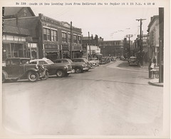 Downtown (Square-Village-Center) Roslindale, MA 1948 from Roslindale Historical Society 'OR' City of Boston.