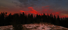 Teufelstein 1498m (ernst.weberhofer) Tags: sunset sonnenuntergang steiermark styria fischbach schanz teufelstein stanz joglland waldheimat