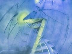 Ende der Wendeltreppe - 125 Stufen ~ End of the Spiral Staircase - 125 Steps (hedbavny) Tags: vienna wien blue green abandoned yellow spiral austria sketch sterreich closed decay destruction diary dream sketchbook treppe unterwegs note gelb urbanexploration silence memory end ladder grn pause blau dust schatten industrie buildingsite tagebuch impression niedersterreich deconstruction abriss spirale erinnerung himmelsleiter leiter ende stiege stufe urbex stille staub gelnder traum verfall liesing bearbeitung skizze wendeltreppe notiz geschlossen jakobsleiter pictorialism skizzenbuch fermate maigrn rodaun shaoow baustele kaltenleutgeben industriekathedrale piktorialismus hedbavny ingridhedbavny wochenbuch