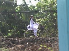 White Dressed School Girl
