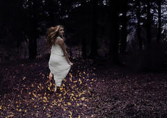 escape (Sophie Barlow) Tags: white art girl forest photoshop fire photography flying jumping model woods exposure dress purple fineart fine floating running multipleexposure multiple conceptual conceptualart inspiredby alevel alevelphotography photographyfineart brookeshaden conceptualfineart