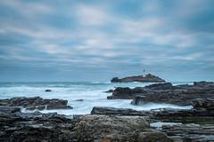 Godrevy Waves (Christopher Combe Photography) Tags: ocean uk sea england lighthouse water coast rocks cornwall waves nikon1835 nikond800e