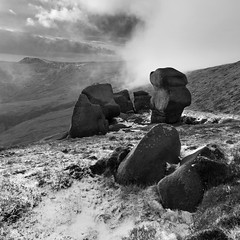 The Wool Packs (Paul Newcombe) Tags: uk winter england snow cold square landscape rocks peakdistrict january crop peaks highpeak kinderscout 2015 derbyshore paulnewcombephotography canon1635ffl
