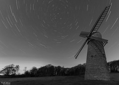 Haigh Windmill Star Trails (wiganworryer) Tags: 2 bw white black windmill canon star mono long exposure 10 mark trails sigma keith stack ii 7d multiple stacking 20 gibson mk wigan haigh aspull wiganworryer