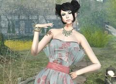 Lpd - Rosetta Dress (Rehana MissSLVietnam,MissChopZuey2015/MVHK13) Tags: fashion secondlife dura laboheme rehana newrelease lpd slink posesion chopzuey