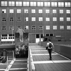 Bicocca (Valt3r Rav3ra - DEVOted!) Tags: street people blackandwhite bw tlr film rolleiflex university milano universit streetphotography persone bicocca ilforddelta400 biancoenero analogico urbanvisions medioformato visioniurbane valt3r valterravera
