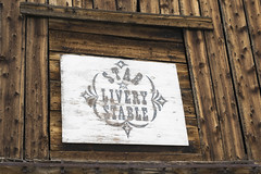 Stable Sign (george z1) Tags: wood mountains sign museum star nikon colorado mine pattern co stable fairplay livery 2016