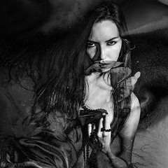 Exotic Anastasya (Anna Atlas) Tags: portrait blackandwhite girl monochrome artwork fineart conceptualportrait fineartphotographer