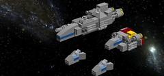 USH Fleet (TheRedDuck) Tags: lego fleet space spaceships miniscale vaisseaux espace flotte minimodèle