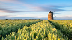 Wind, Wheat and a Windmill (Tom_Drysdale) Tags: summer windmill field st sunrise coast fuji fife wheat salt july snail coastal poppy fujifilm 2016 monans