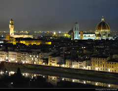 View from Piazzale Michelangelo, Florence, Italy (JH_1982) Tags: piazzalemichelangelo florence firenze italy italia duomo night travel traveling jochenhertweck travelling piazzale michelangelo view aussicht florenz florencia florena     toscana toskana italien italie     lights light glow glowing leuchten dunkel dark darkness nacht nuit noche notte beleuchtet beleuchtung lumire luz   kathedrale santa maria del fiore cathedral basilica     cattedrale architecture architektur historic historisch illuminated dom cuppola cityscape tower towers spire spires roofs rooftops tuscany