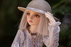 Elin in lace dress (J&C entangled) Tags: hat mod dress handmade lace 12mm karsh mnf minifee makoeyes ar018