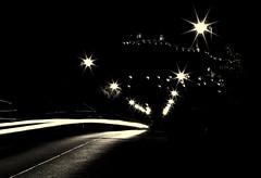 Chciny by night in blackandwhite (stempel*) Tags: polska poland polen polonia gambezia pentax k30 50mm chciny night noc czb bw czarnobiae blackandwhite lights wiata latarnie