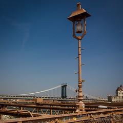 Williamsburg Bridge - seen from the Brooklyn Bridge, New York