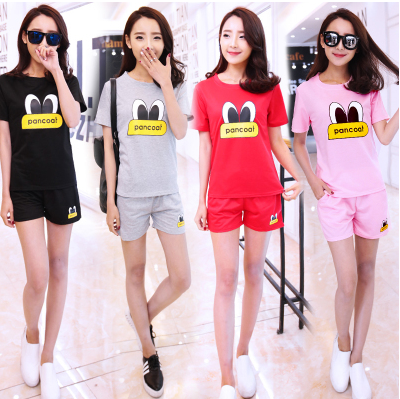 XL women's 200 pounds of fat sister and fertilizer fat slim slimming mm summer 2016 new t-shorts suit