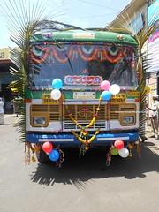 Dulhan!!!!!!!!!!!!!!!!!!!       MSRTC Hirkani Of sangli Depot Bus nicely decorated On her Birthday (gouravshinde94) Tags: msrtc bus sangli hirkani