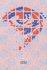Vision of Red and Blue Pyramids (Craig Walkowicz) Tags: vision visualization sight eye watch observe pyramid squares grid pattern geometry opart ccw