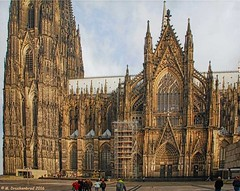 South Side of of the Cologne Cathedral in Cologne Germany (PhotosToArtByMike) Tags: colognecathedral colognegermany dom cologne germany koln gothicarchitecture klnerdom highcathedralofsaintspeterandmary oldtown rhineriver oldquarterofcologne europe