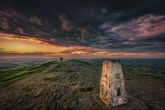 On top of the Malverns (Andy2305) Tags: worcesterbeacon malvernhills worcestershire sunset sky clouds landscape toposcope trig ordnancesurvey explored