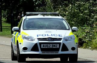 Police car on Trafalgar Road
