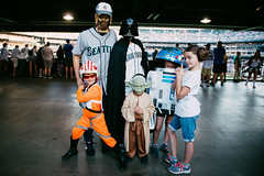The Force is strong with this family. (poopoorama) Tags: dannyngan dannynganphotography garrisontitan mariners nikoncorporation nikond600 safecofield seattle starwars starwarsnight starwarsweekend washington unitedstates
