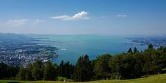 Lake Constance from Austria (Pfnder) (leitzlover) Tags: pfnder pfander pfaender bregenz lakeconstance lindau airship zerelin cloudy zeppelin rhine rhineriver riverrhine
