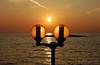 Golden Mediterranean Sunset (gporada) Tags: lantern lamp beleuchtung mediterraneansea silhouette isola insel island abendsonne sun sunset orange sonnenuntergang meerblick golden gporada nikond40 seascape coucherdesoleil soleil evening d40 2016 welltaken simple world100f wow phvalue sunsetsandsunrisesgold