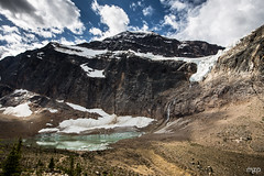 Angel Glacier under Mt Edith Cavell. (mzagerp) Tags: road trip usa canada rockies rocheuses etats unis mzagerp jasper national park black bear ours brun lake maligne lac valley bald hills caribou mountain goat chvres de montagne angel glacier