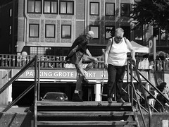 The Brave and the Bald (Ren-s) Tags: blackandwhite noiretblanc street streetphotography people personnes gens folks city ville town citycenter day daylight belgique belgium europe life