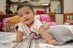 Hidden smile (njeejul) Tags: jo kid cute children child baby babies smile crawl girl