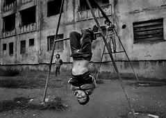 """Life in Balkan"" by Istvan Kerekes, Hungary (childphotocompetition) Tags: istvan kerekes balkan documentary street winner competition bwchild2016 bwcompetition children playground childphotography child photography bw blackandwhite"
