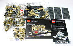 The content of the sealed box (WhiteFang (Eurobricks)) Tags: lego architecture set landmark country buckingham palace victoria elizabeth royal royalty family crown jewel imperial statue tourist united kingdom uk micro bus taxi