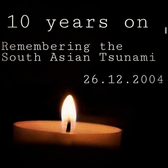Today we commemorated 10  years since Tsunami hit in 2004. We will pray for those who sacrificed their lives!.  Memorial services held for 220,000 people killed after underwater earthquake set off massive waves across Indian Ocean. The devastating Decembe