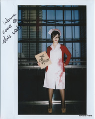 Instax - 2014-10-25 - 1819 (gprana) Tags: singapore cosplay fujifilm nurse sunteccity instax theevilwithin gamestart fujifilminstax210 psychobreak