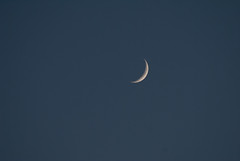 Three-Day-Old Moon (rbabiera) Tags: moon crescent astronomy