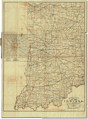 Mendenhalls Road Map of Indiana, full map sheet (Hoosier Recollections) Tags: usa bicycle indianapolis indiana roadmap mendenhall bicycleroute roadcondition