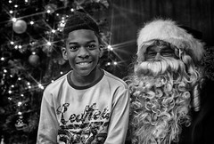 Christmas Party 2014 (Johnny Silvercloud) Tags: santa people blackandwhite bw black detail men monochrome kids canon children blackwhite women candid military families highcontrast indoor korea indoors christmasparty africanamerican afroamerican soldiers santaclaus southkorea vignette hdr individuals militaryfamilies canon5dmarkiii hdrefexpro2 lightroom5