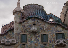 Roof top Casa Batlló (Antoni Gaudi's masterpiece), Barcelona, Spain with DMC GX7