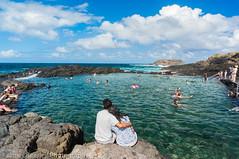 Kiama rock pool (JimmyBBlaze) Tags: park cliff feet beach pool rain rock royal footprints sunny dirty national thongs coal kiama garie coalcliff