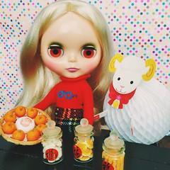 初6⃣️,还在吃吗? #羊年快乐 😚💕 #love #blythe #doll #ブライス #福 #新年快乐