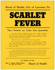 Scarlet Fever Quarantine Placard, Lancaster, Pa. (Alan Mays) Tags: ephemera cards signs quarantinecards quarantinesigns placards placarding posters notices fliers flyers circulars announcements warnings medicalephemera paper printed scarletfever diseases infectiousdiseases infections boardofhealth healthofficers charles benjfcharles benjaminfcharles lancaster pa lancastercounty pennsylvania antique old vintage typefaces type typography fonts
