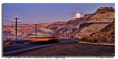 Zoom! (walla2chick) Tags: moon river lights moving highway fullmoon columbiariver poles bluffs movinglights topazadjust 0069ta
