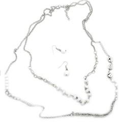 5th Avenue White Necklace P2630A-3