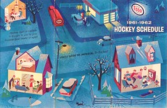 Esso Canada Hockey Schedule, 1961-62 (STUDIOZ7) Tags: winter canada sports hockey station nhl newjersey 60s suburbia canadian gas service 1960s gasoline esso sixties humble dealer canadiana exxon enco standardoil petroliana imperialoil