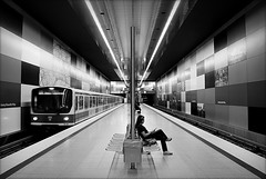 the lost train of thought (bostankorkulugu) Tags: station germany underground subway munich mnchen bayern bavaria metro ubahn metrostation georgbrauchlering georgbrauchleringmetrostation