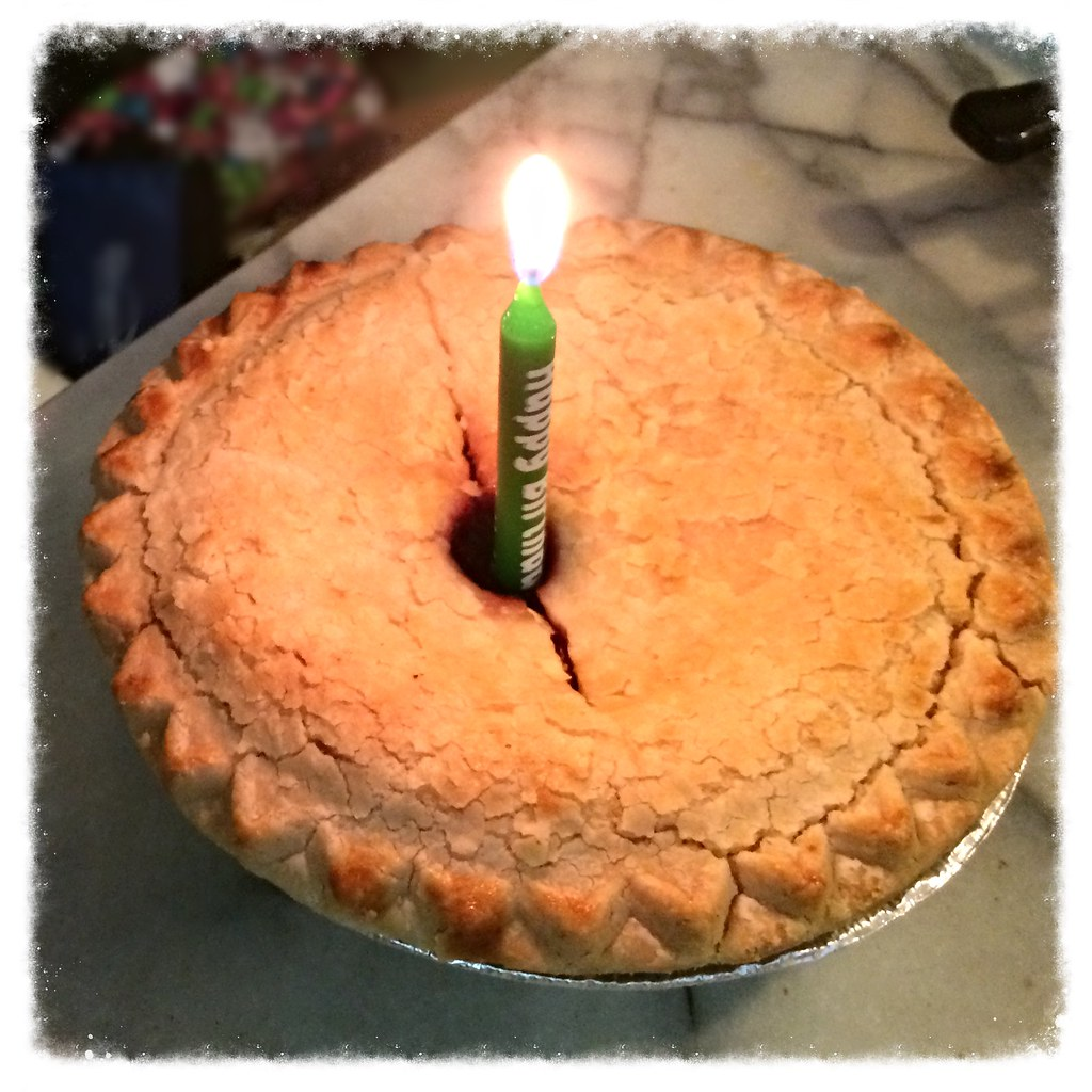 Cherry Birthday Pie With Candle Lynn Friedman Tags Sanfrancisco Party Fruit