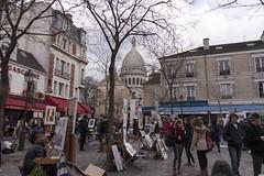 Place du Tertre, Paris (vidum) Tags: paris france place coeur du sacre frankrijk parijs tertre vidum
